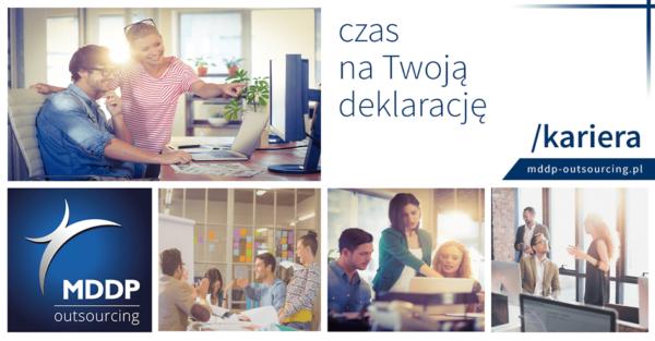 Dołącz dozespołu MDDP Outsourcing wWarszawie iKatowicach